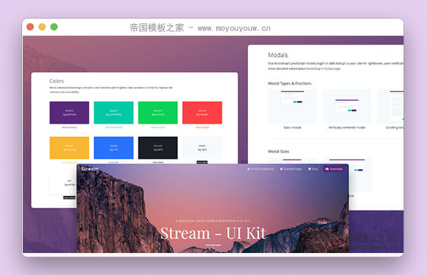 轻量级Bootstrap4UI框架(Stream UI Kit)