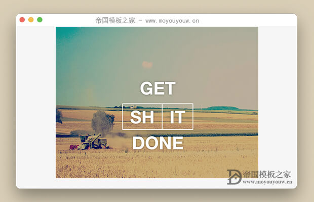 免费的Bootstrap3UI框架(Get Shit Done Kit)