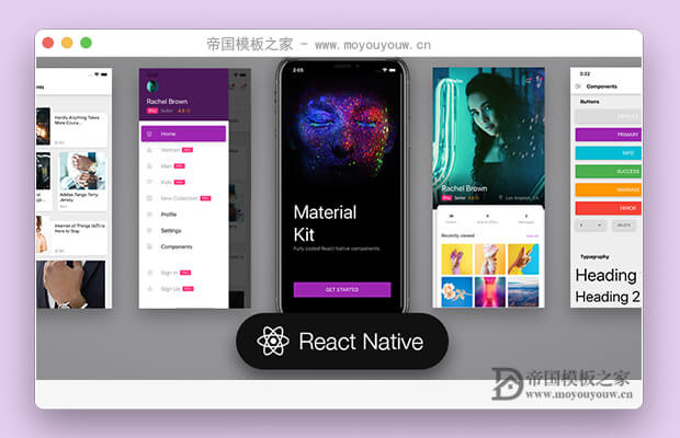 免费的REACT NATIVE移动端ui框架(Material Kit React Native)